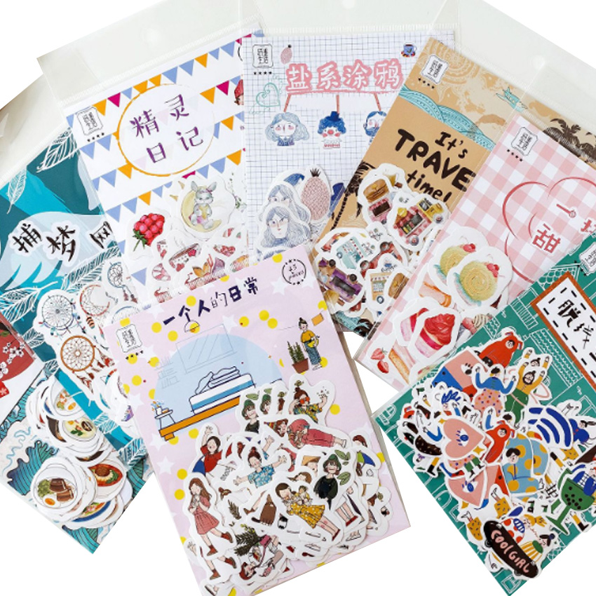 45pcs/pack Paper Hand Stickers Eight Selection Scrapbooking Stationery Daily Stickers And For Gift
