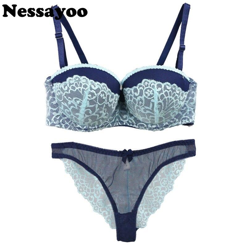 cb6d7a6e28c sexy bra push up lace V ABC cup lingerie sexy lingerie set 75BC 80BC 85B sexy  Hollow out pants romantic temptation lace bra set