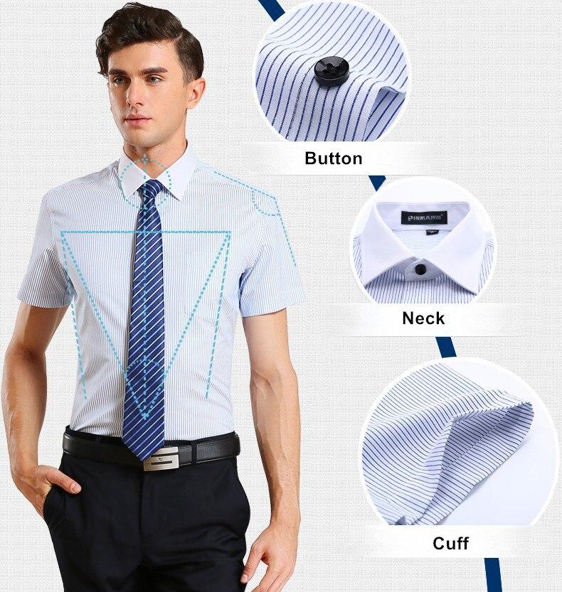 Брендовые мужские рубашки в полоску, Повседневная Деловая официальная рубашка высокого качества с коротким рукавом для мужчин размера плюс 5XL-8XL