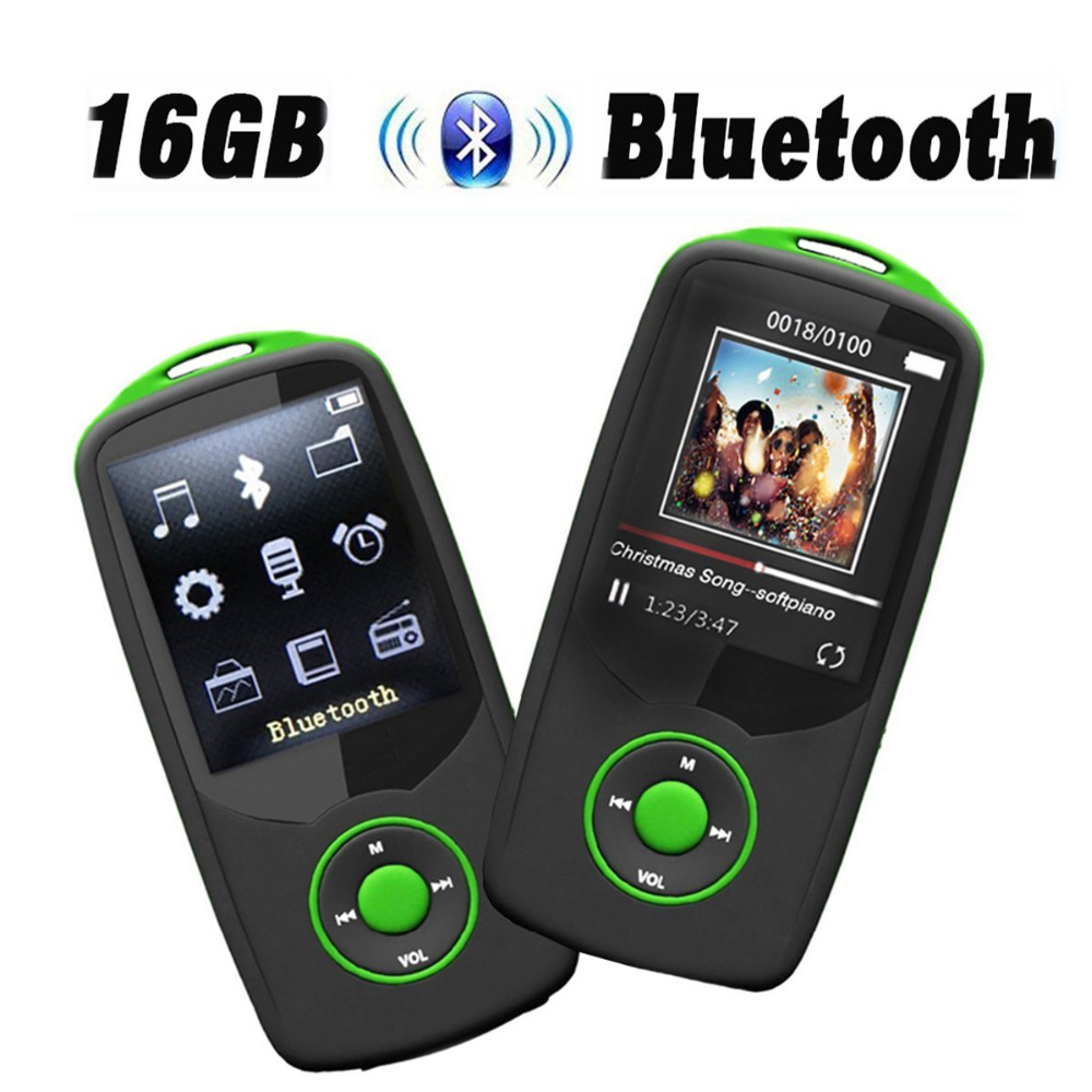 Bluetooth mp3 player original RUIZU-X06 16GB music player with FM Radio, Recorder & 100 Hours Lossless Playing Sound Walkman