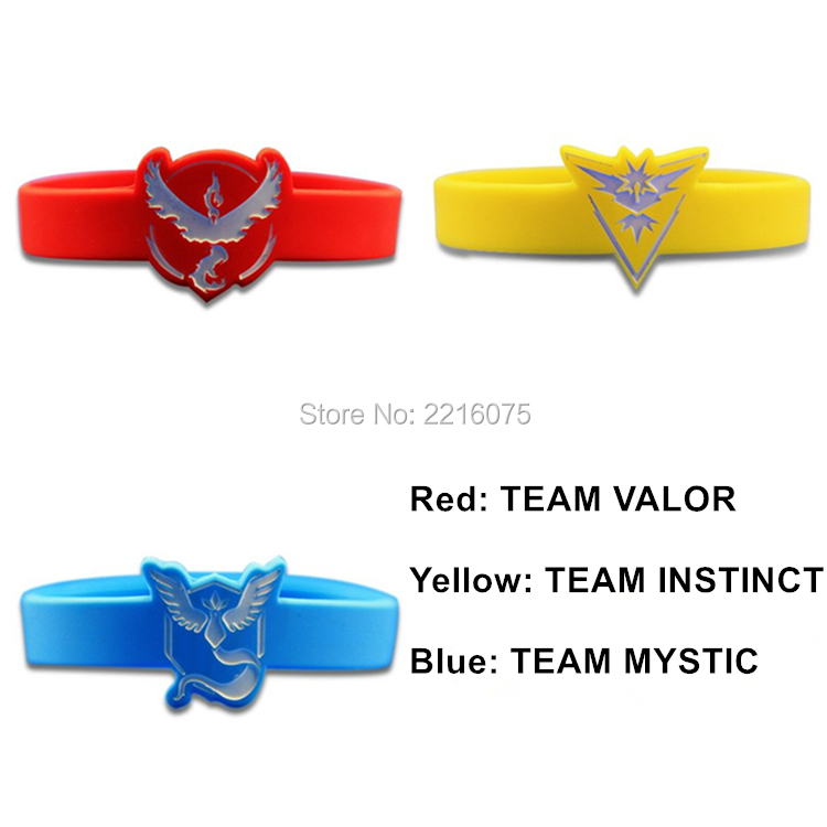 300pcs Pokemon Go Team Mystic Team Valor Team Instinct