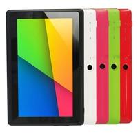 EE.UU. Stock!! Yuntab 7 pulgadas Andriod Q88 Tablet PC, Allwinner A33 Quad Core de Doble Cámara External 3G, 512 MB + 8 GB, Android 4.4
