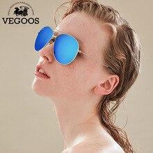 VEGOOS Real Polarized LOVERs' sunglasses brand designer metal frame vintage sun glasses for men and women Pilot#3099
