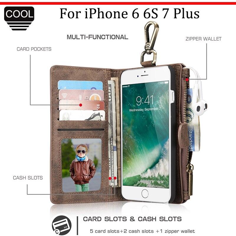 imágenes para CaseMe Para El Iphone 6 6 S 7 Caso de la Alta Calidad de Lujo de Negocios cartera de Cuero Cubierta Del Tirón Para El iPone 7 Plus iPone7 7 Plus Teléfono caso