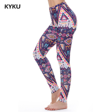 KYKU Brand Fashion Aztec Legins Push Up Leggings Women For Fitness Elastic Sexy Printed Legging Leggin 3d