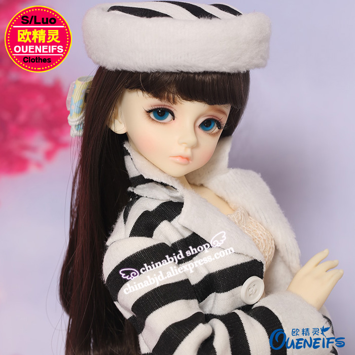 OUENEIFS free shipping ,Black and white all-match long baby clothese, shoes ,hats,1/4 bjd/sd doll clothes,no doll or wig YF4-165