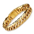 Men Link Chain Stainless Steel Bracelets Wide Gold Plated Bracelet Classic Wrist Bangle Fashion Jewelry Male