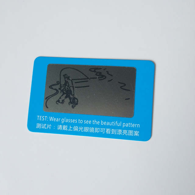 4c348135c4f26 placeholder 500 pcs Lente Polarizada Cartão de Teste Cartão de Teste para  Teste de Polarização óculos de