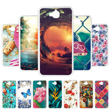 Custom Case For Huawei Y6 Pro 2017 Case Silicon Cover For Huawei P9 Lite Mini Nova Lite 2017 Honor 4C Pro Case Back Cover Coque(China)