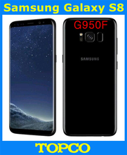 Samsung Galaxy S8 G950F Original Unlocked 4G LTE Android Mobile Phone Octa Core 5.8″ 12MP+8MP RAM 4GB ROM 64GB WIFI GPS