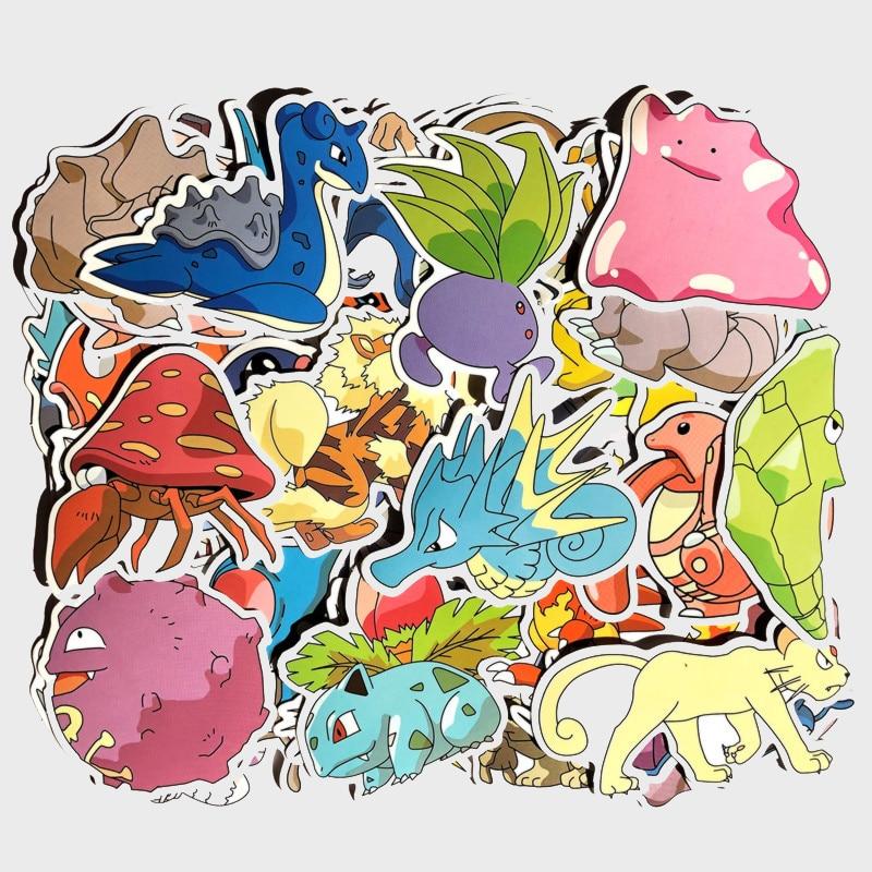 Купить с кэшбэком Cartoon Stickers For Laptop Phone Luggage Car Guitar TV Box Skateboard Kid Decal Cartoon Stickers for Nintend