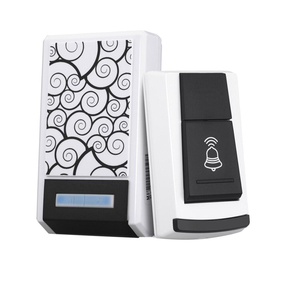 315 MHZ Sans Fil Universel Télécommande Interrupteur Sonnette Récepteur Nuage Motif Blanc 36 Tunes Étanche Télécommande