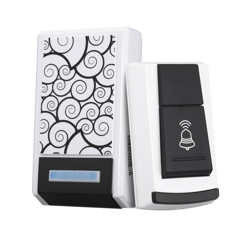 315MHZ Universal Wireless Remote Control Switch Doorbell Receiver Cloud Pattern White 36 Tunes Waterproof Remote Control