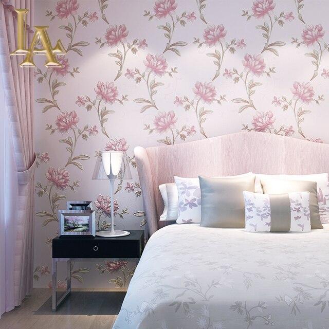 Gemütliche Pastoralen Lila Beige Rosa Lotus Blume Wallpaper Für Wände 3 D  Geprägte Hohe Qualität Wohnkultur