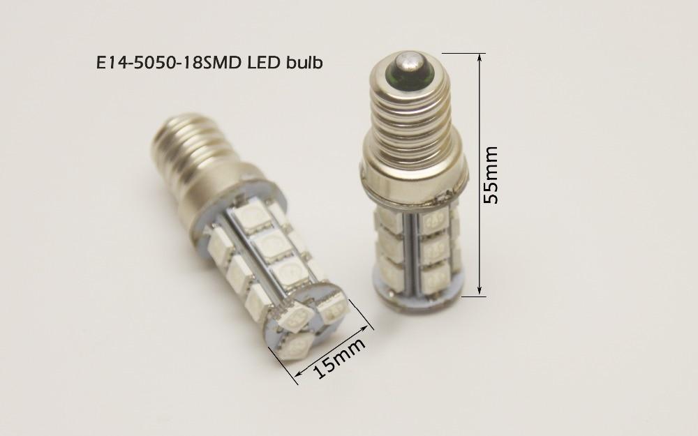 2pcs E14-5050-18SMD 12v nonpolaritate universal utilizare LED E14 - Accesorii si piese pentru motociclete