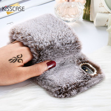 KISSCASE Soft Warm Fur Case For iPhone XS XS MAX Bling Diamond Fluffy Wristband Phone Case For iPhone XS XR iPhone 8 7 6 S Cover-in Fitted Cases from Cellphones & Telecommunications on Aliexpress.com | Alibaba Group