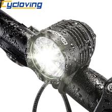 Cycloving אופניים אור אופני אורות LED פנס פנס 1800 לום אלומיניום עמיד למים MTB אופני אביזרים
