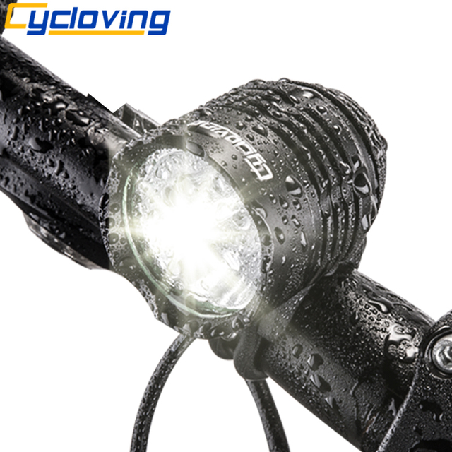 Cycloving Led Bicycle Light Bike headlight Headlamp 1800 lumen Aluminum Waterproof bike accessories