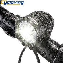 Cycloving Велосипедный свет велосипедные фары светодиодный налобный фонарь 1800 люмен, алюминиевый водонепроницаемый аксессуары для горных велосипедов