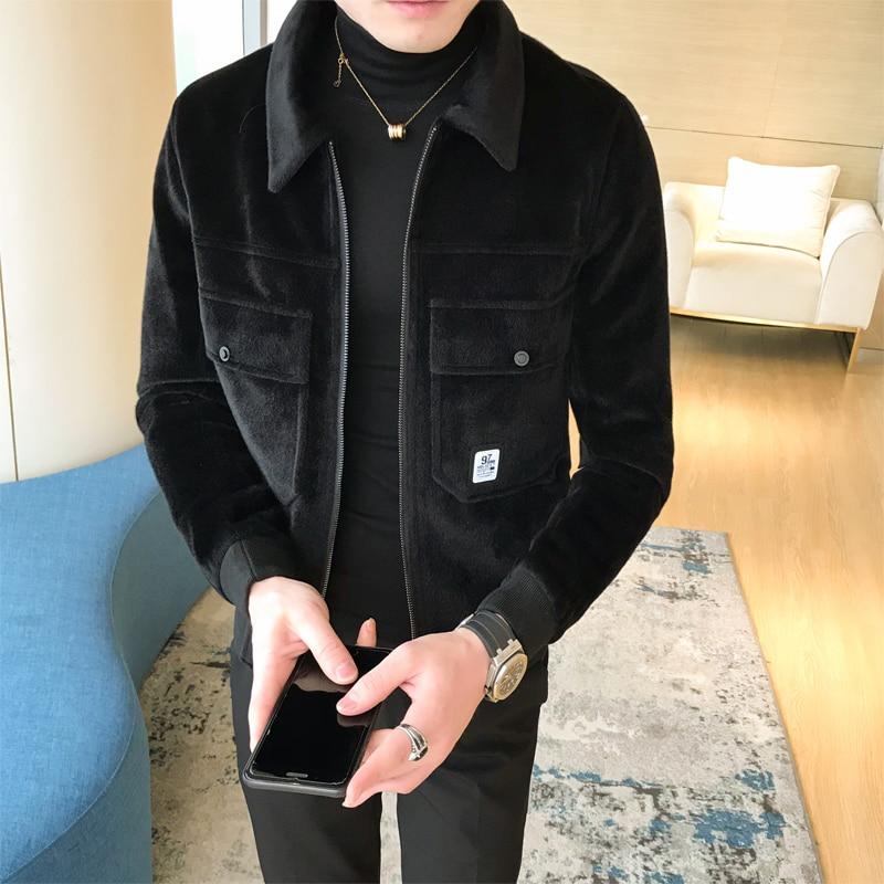 Winter Coats Mens Bomber Jackets Black Chaqueta Hombre Slim Fit Thick Winter War