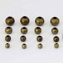 1 Pack 4mm 5mm 6mm 8mm Big Hole Metal Round Beads Antique Bronze Iron Space Charm Beads for DIY Craft Jewelry Making Supplier