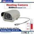"""Горячая! 800tvl 1/3 """"Panasonic Цвет HD CCD, 960 H Камера Видеонаблюдения с 35 шт. светодиодов ИК открытый водонепроницаемый отопление камера"""
