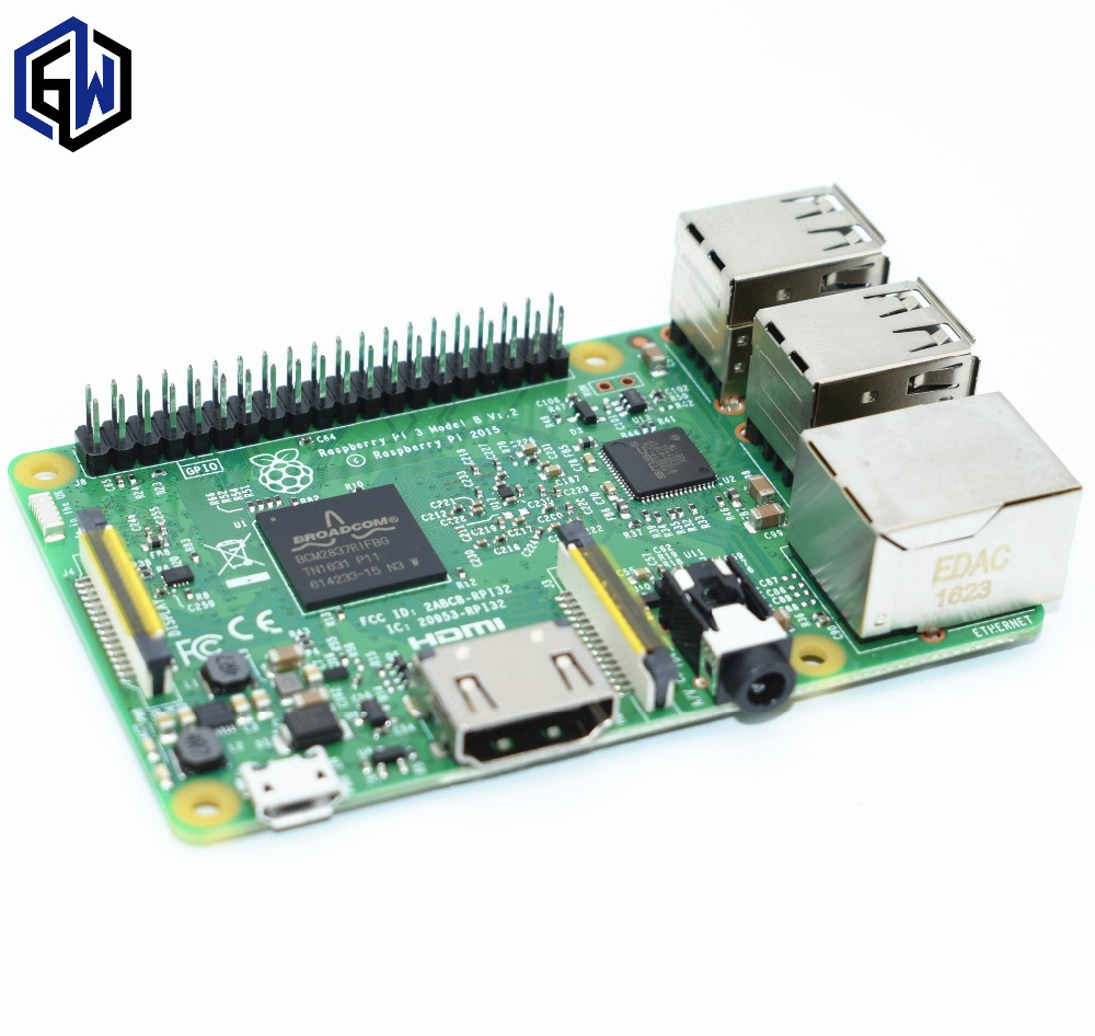 Оригинальный raspberry pi 3 Модель b/raspberry pi/малиновый/pi3 b/pi 3/pi 3b с Wi-Fi и bluetooth
