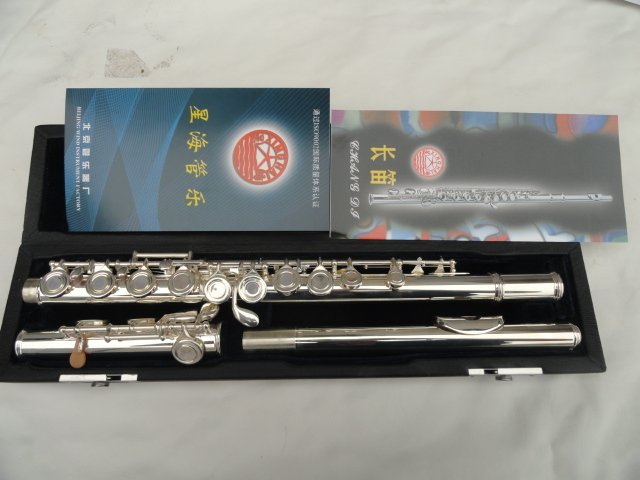 Brand Xinghai 16 Holes Closed Flute  Plus E Key Built Split The Obturator Flute Surface Silver Plated Flauta Musical Instrument musical instrument flute 16 closed hole c professional synth and e key free music