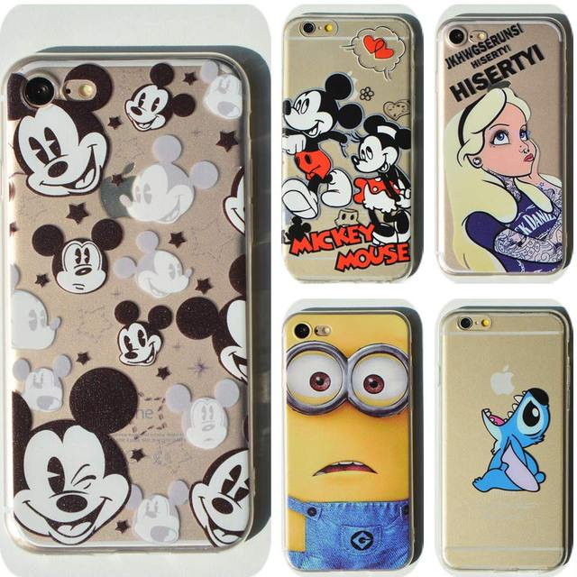 796f346cd5 Thin Soft Clear TPU Slim Cartoon Cute Mickey Mouse Case For Apple iPhone 7  7 plus 6 6s plus 4 4S 5 5S SE 5C Silicone Phone Case