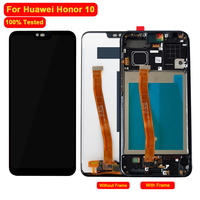 100% Tested For Huawei Honor 10 LCD DIsplay Touch Screen Digitizer FingerPrint with Frame Assembly For Honor 10 Mobile Phone