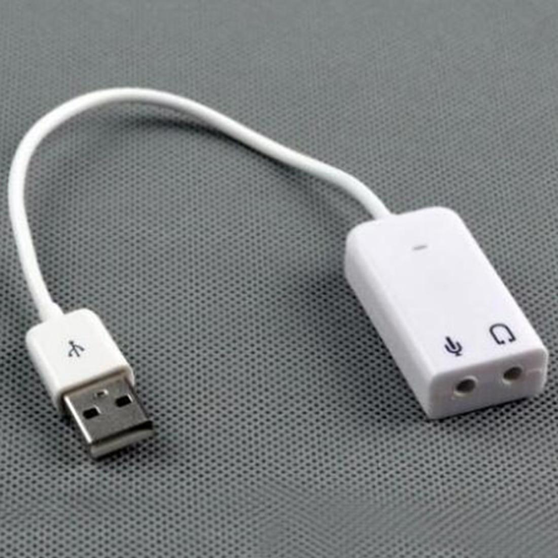 New Sienoc USB 2.0 Virtual 7.1 Channel Xear 3D External USB Sound Card Audio Adapter For Windows XP Win 7 8 Linux Vista Mac OS
