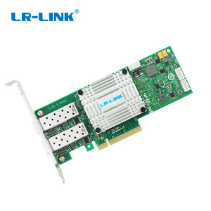 Image 5 - LR LINK 1002PF 2SFP+ 10Gb fiber optic ethernet network adapter PCI Express network card lan card Nic Domestic Chip