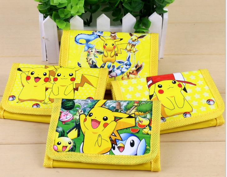 12Pcs Pokemon Pikachu Coin Purse Cute Kids Cartoon Wallet Bag Pouch Children Purse Small Wallet Party Gift pu leather cartoon pikachu short purse children gift pocket monster wallet pokemon go geme