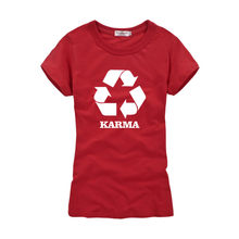 419b4bb7cd Special Printed T-shirt of karma loop Pattern Women s Short Sleeves O-Neck  Tee
