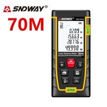 цены SNDWAY 70M laser range finder laser distance meter Laser rangefinder Laser Tape Measure ruler Roulette Diastimeter trena Tool