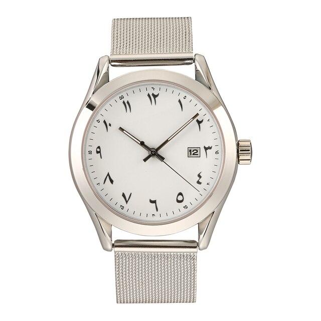 Men's Chronograph Analog Quartz Watch with Date France Design Arabic Numeral Wom