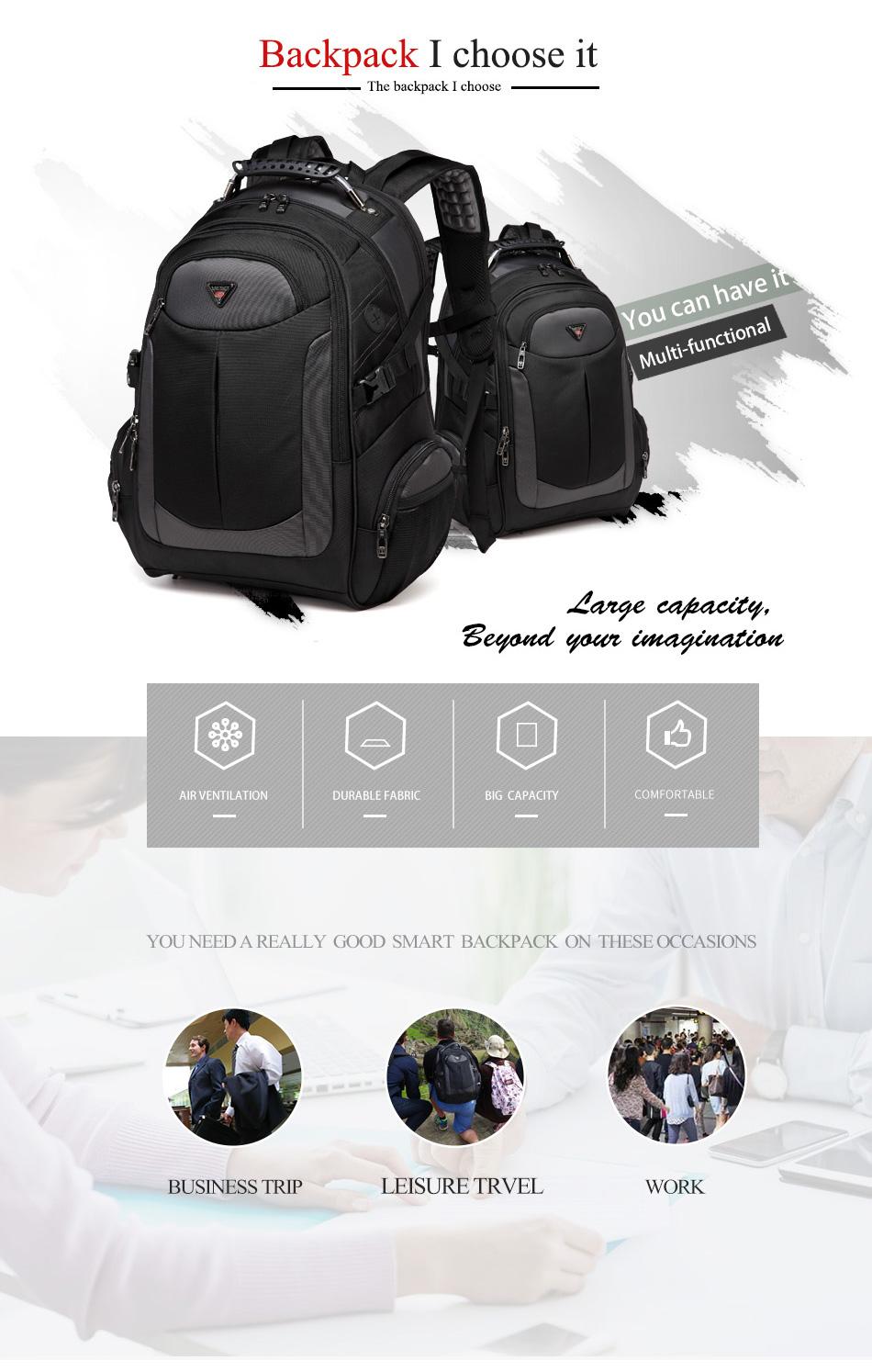 да  нет абсолютно ноутбук рюкзак для мужчин с Drag 2018 сумки многофункциональный рюкзак водонепроницаемый Oxford черный компьютер ОГА для порта
