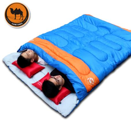 Outdoor Camping 2 Person Sleeping Bag Adult Self Driving Hiking Lover Couple Travel Spring Summer Winter Trekking Sleeping Bag