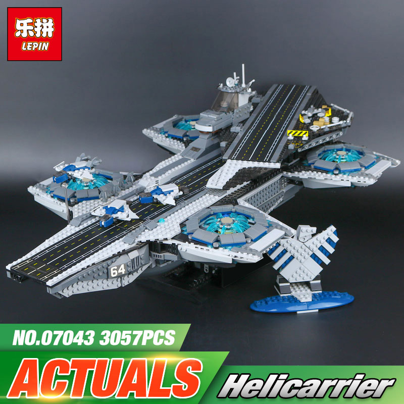 Lepin 07043 Super Heroes The Shield Helicarrier Model Building Kits  Blocks Bricks Toys Compatible  76042 2017 new sembo sy911 4288pcs super heroes the shield hellicarrier children educational model building kits brick toys gift 76042