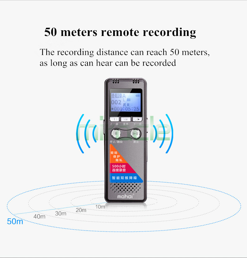 Mahdi M4 8G professional Audio voice recorder long standby noise reduction telephone voice recorders mini mp3
