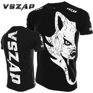 Футболка с короткими рукавами VSZAP GIANT sanda, летняя футболка для ММА, боевых искусств, муай тай, бокса, волка, спорта, фитнеса