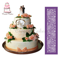 Beautiful Lace Flower For Cake Design Fondant New Design Cake Mesh Stencil Lace Mold Fabric Stencils