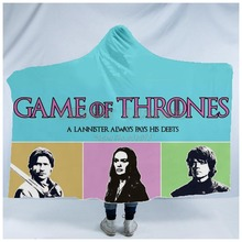 Plstar Cosmos Game of Thrones Blanket  Hooded 3D full print Wearable Adults men women style8