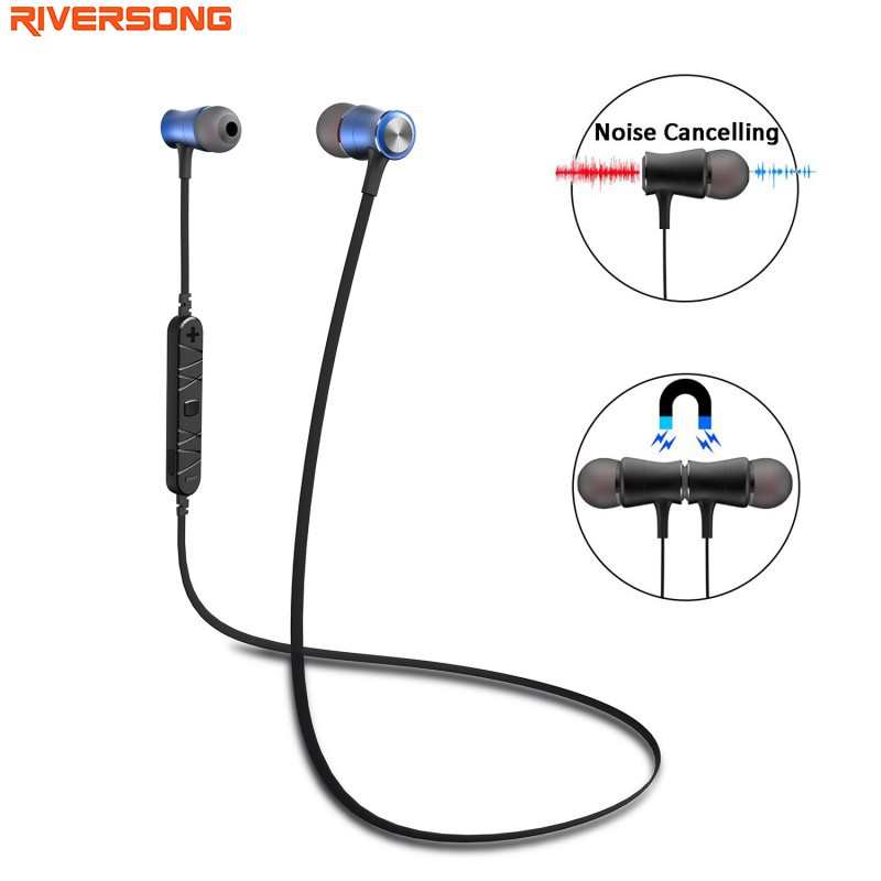 A01 Bluetooth Earphone RIVERSONG Magnet Wireless Sports Earphones Noise Reduction Earbuds with Microphone for IOS and Android