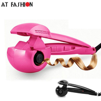 At Fashion 110 240V Steam Spray Automatic Hair Roller Digital Curling Irons Hair Curler Professional Curling