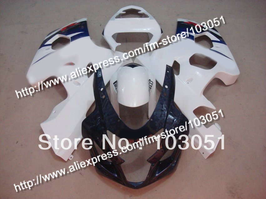 bodywork for SUZUKI 2004 GSXR 750 fairing K4 2005 GSXR 600 fairings 04 05 glossy black white DB105 freeshipping smoke double bubble windscreen windshield for 2004 2005 suzuki gsxr 600 750 k4