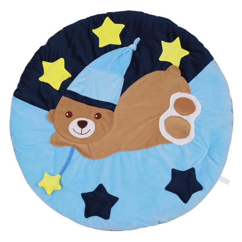 BEIKAPAIDI Hugging Bear Baby Play Blanket Baby Fitness Frame Baby Infant Cushion Educational Toys, Baby Initiation Tutor
