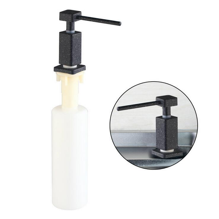 Stainless steel head Liquid soap dispenser Kitchen sink liquid soap dispenser black Bathroom hand wash liquid