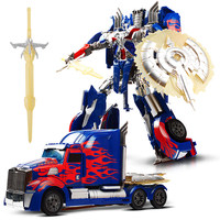 Classic Large Size Transformation Robot Car Toys Anime Series Action Figures Model Educationl Children Toys Gift
