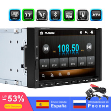 Car MP5 Player Car MP3 Radio 7 Touch Screen In Dash Bluetooth Support FM USB AUX SD SWC Remote Control Rear View Camera Input kkmoon 7 2 din universal bluetooth car stereo fm radio mp5 dvd player touch screen usb tf aux input with rear view camera